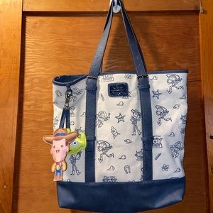 Toy story box lunch tote bag